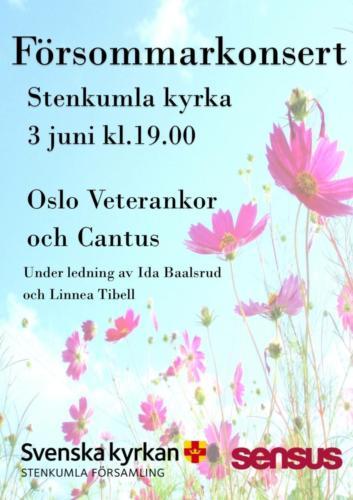 Plakat fra konsert i Stenkumla kyrka